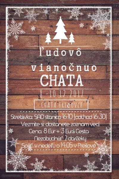 Ľudovô Vianočnô chata