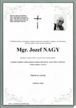 Zomrel brat Mgr. Jozef Nagy (1934 - 2018)