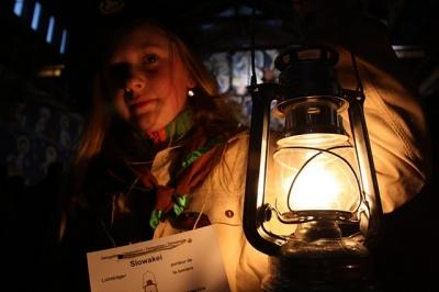 Slávnostné odovzdanie Betlehemského svetla skautom z Poľska, 12.12.2010, Nový Smokovec